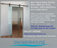 Sliding Door with decorative Glass-Barn Door $ 549.00