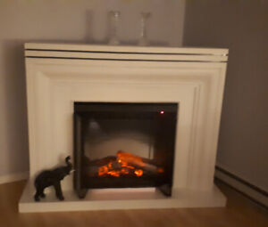 White electric fireplace for sale