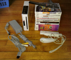 Nintendo Wii Console w/ 9 Games