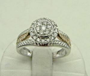 GORGEOUS HALO STYLE DIAMOND RING 14K GOLD