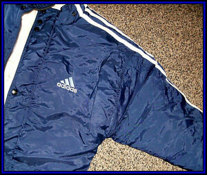 1990 Vintage ** Adidas ** Insulated Winter Jacket Coat ( Nylon )