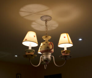 Girls Ceiling Light Fixture and 2 Lamps
