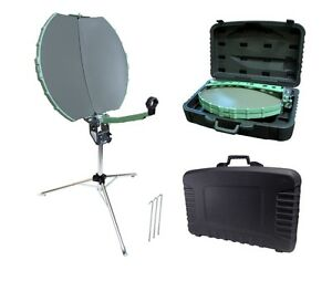 Folding Portable Satellite Dish Tripod Kit RV Caravan Camping DI