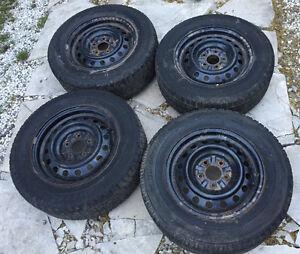Bridgestone Blizzak WS-50 Tires and Steel Rims Winter 215/65R15