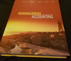 Managerial accounting 9th canadian edition.
