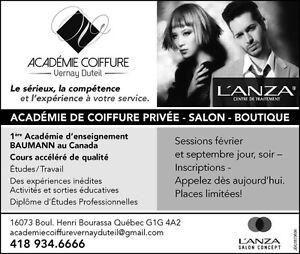 INSCRIPTION- ÉCOLE de coiffure Vernay Duteil Québec City Québec image 1