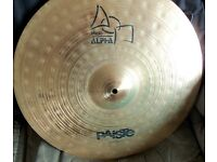 "Paiste Alpha 20"" Ride Cymbal."