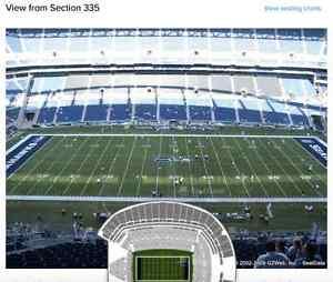 2 Tix-Seahawks Vs Panthers-Sec 335