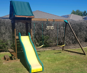 Solid Timber Swing Set