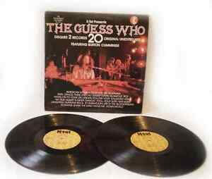 The GUESS WHO, 20 Orignal Unedited Hits, Rock Pop vinyl record