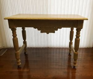 Ornate Antique Oak Table (Chic White), Ornate Antique Oak Mirror