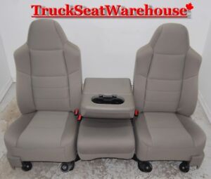 Ford F250 Front Truck Seats and Console Cloth Power Superduty