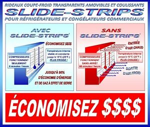 RIDEAUX COUPE-FROID TRANSPARENT POUR RÉFRIGÉRATEUR & CONGÉLATEUR Saint-Hyacinthe Québec image 5