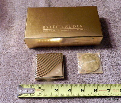 Estee Lauder The Golden Wave Powder Compact Engraved Name Judy Free Shipped