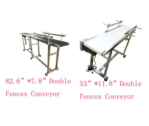 """110V New Different Size Flat,Incline Type Conveyor 7.8""""W to 23.6""""W Conveyor New"""