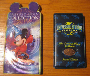 DISNEY WORLD & UNIVERSAL STUDIOS PRESSED COIN COLLECTION