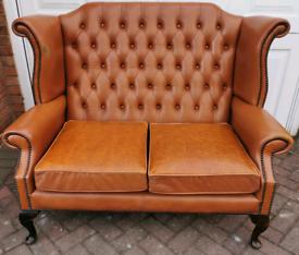 Rare Queen anne chesterfield sofa