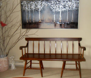 Beautiful Spindle Pine Bench – 5 Feet Long!