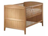 BabyLo Wood Cot Bed - BABYLO TOSCANA OAK COT BED