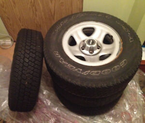 Jeep Wrangler 4 Tires/3 Rim Set