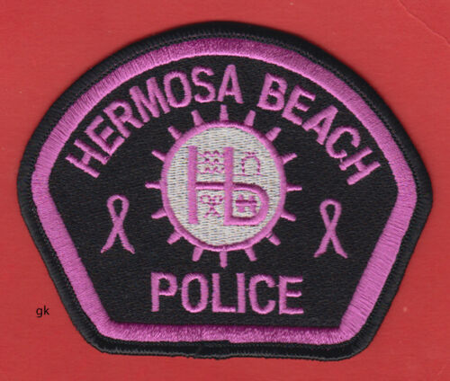 HERMOSA BEACH CALIFORNIA POLICE SHOULDER PATCH PINK (Breast Cancer)
