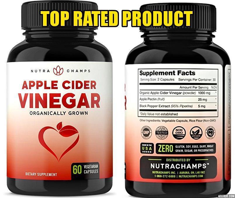 Organic Apple Cider Vinegar Capsules – 1000mg Natural Cide