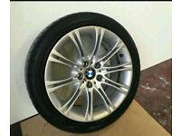 "BMW E60 E61 MV2 GENUINE ALLOY WHEEL WITH TYRE 18"" (HAVING MASSIVE CLEAROUT ALL STOCK MUST GO)"