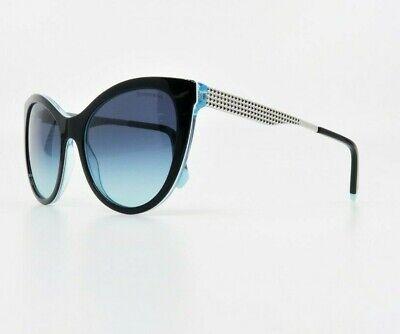 Tiffany & Co. Women's Cat Eye Black/Blue Sunglasses w/ Case TF 4159 8274/9S (Blue Sunglasses Women)