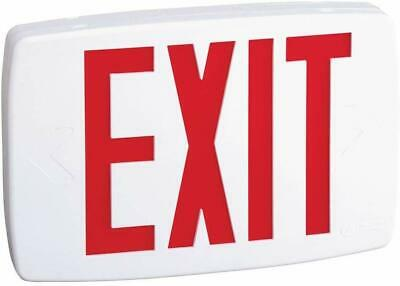 Lithonia Lighting Quantum Thermoplastic Led Emergency Exit Sign Red Letters