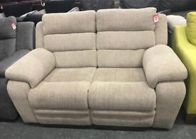 DFS fabric recliner 2 seater sofa