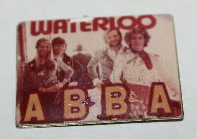 vintage pin badge  ABBA  Poland pin metal   waterloo