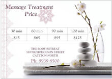 $65 Oil or Thai Massage Carlton North Melbourne City Preview