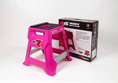Montageständer Motorrad Cross Enduro Rtech R15 Werke Pink Neon Hot MX Bike Stand ()