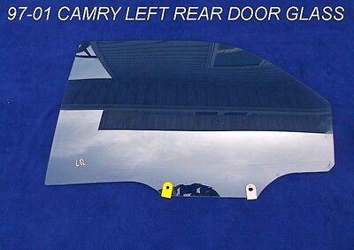 1997 - 2001 TOYOTA CAMRY REAR DRIVER SIDE DOOR WINDOW GLASS LEFT SIDE OEM 97-01