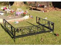 Personalised Steel Memorial Decorative Grave Surround