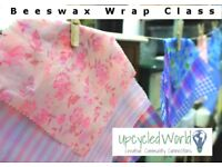BeeswaxWraps, alternative to cling film. Learn how to make Beeswax Wraps Class - 12 May, 2:30-4:00pm