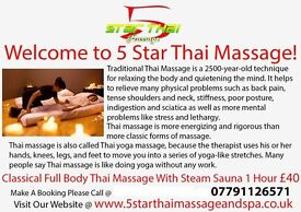 NVQ level 4 qualified Thai Massage, Training and Spa treatment