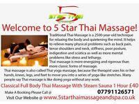 NVQ level 4 qualified Thai Massage, Training and Spa treatment