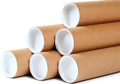 50 - 2 X 36 Round Cardboard Shipping Mailing Tube Tubes With End Caps