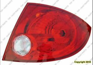 Tail Light Passenger Side Sedan Chevrolet Cobalt 2005-2010