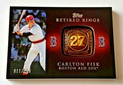 f27c1f850 2012 TOPPS CARLTON FISK RETIRED RINGS COMMEMORATIVE RELIC   736 RR-CF RED  SOX