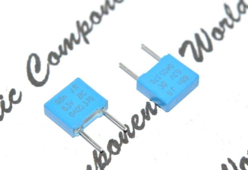 10pcs-VISHAY BCcomponents MKT370 0.068uF (0.068µF 68nF) 63V 5% P:5mm Capacitor