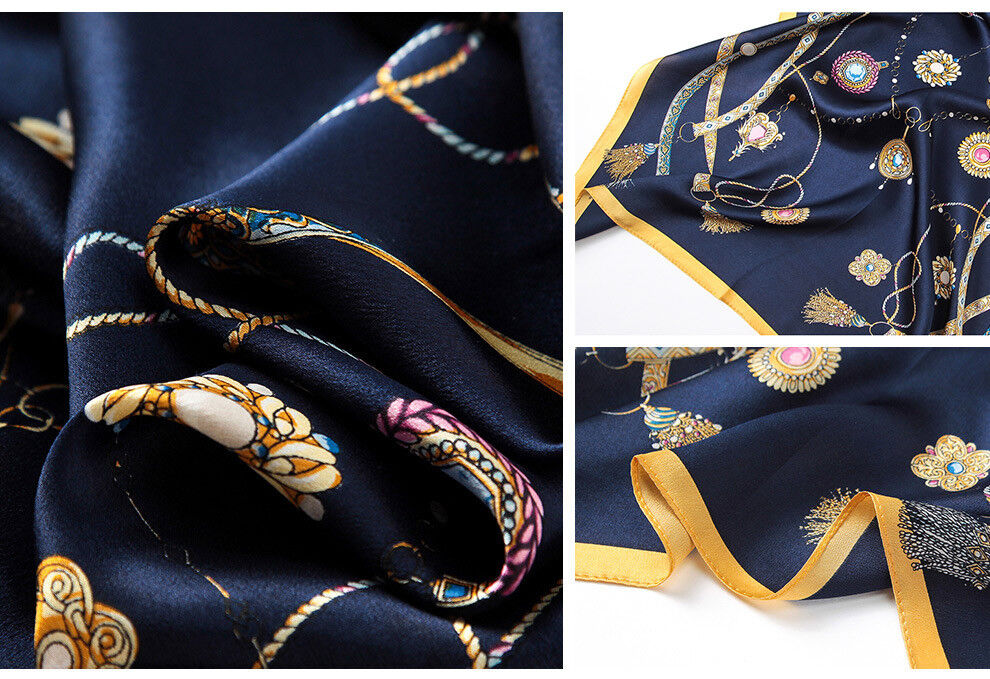 "71/""*26/"" 100/% Pure Silk Long Scarf Chinese Nature Silk Shawl Feather Pattern"