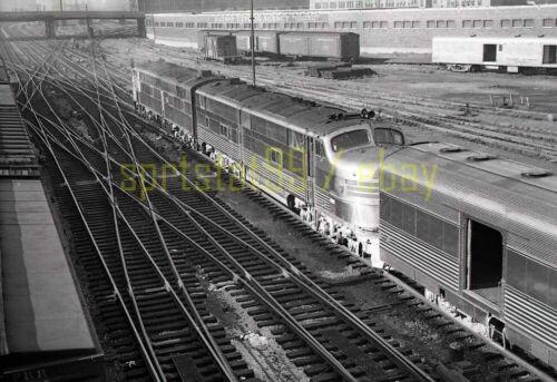 CBQ Burlington Route EMD E5A Locomotives - Vintage Railroad Negative