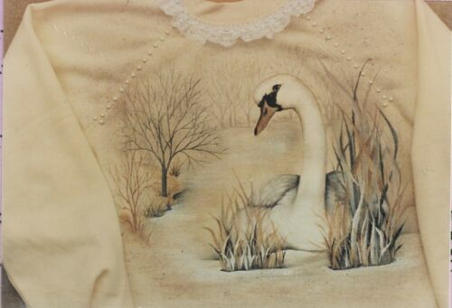 Fabric Painting Pattern-Shimmering Swan-Wildlife Carver and Decorative Artist