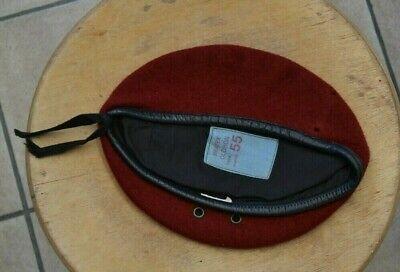 beret rouge parachutiste francais taille 55 tbe n°1