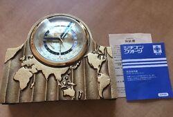 Beautiful Vintage CITIZEN Quartz World Time Alarm Desk Clock Works Heavy