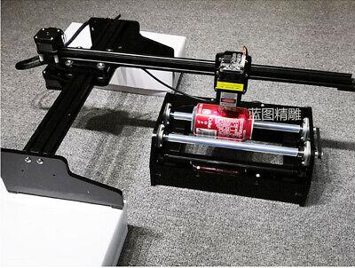 25w 4030cm Diy Usb Cylinder Plane Metal Laser Engraver With Rolling Platform