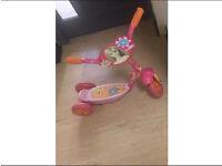 Girls Barbie balanced three wheeler scooter