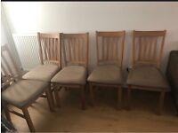 5x solid oak dining chairs